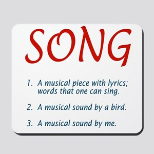 song defined Mousepad