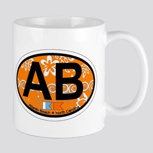 Atlantic Beach NC - Oval Design Mug