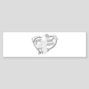 Hope Love Faith Sticker (Bumper)