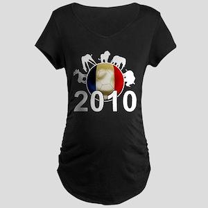 France World Cup 2010 Maternity Dark T-Shirt
