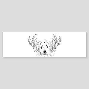 Awareness Tribal White Sticker (Bumper)