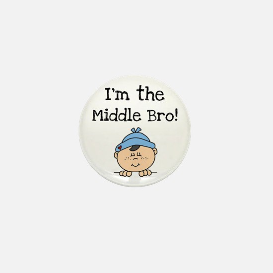 I'm the Middle Bro Mini Button