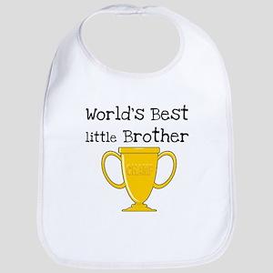 World's Best Little Brother Bib