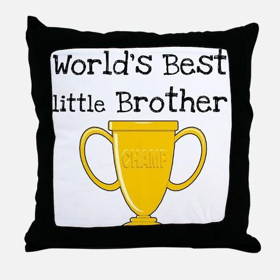 World's Best Little Brother Throw Pillow