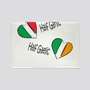 Half Garlic/Half Gaelic Rectangle Magnet