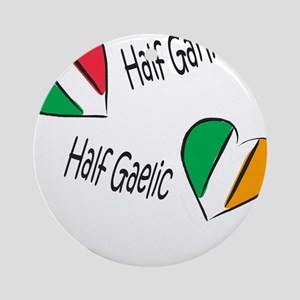 Half Garlic/Half Gaelic Ornament (Round)
