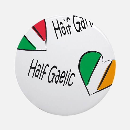 Half Garlic/Half Gaelic Ornament (Round)