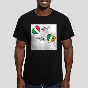 Half Garlic/Half Gaelic Men's Fitted T-Shirt (dark