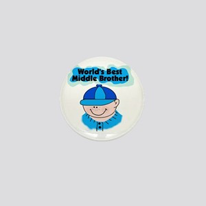 Best Middle Brother Mini Button