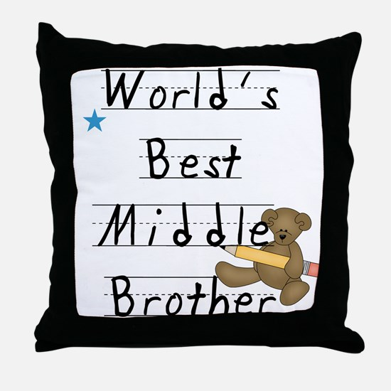 Best Middle Brother Throw Pillow