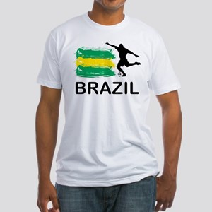 Brazil Football Fitted T-Shirt