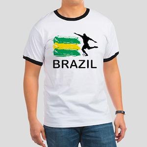 Brazil Football Ringer T