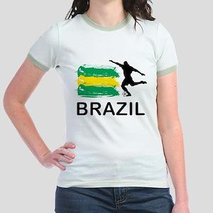 Brazil Football Jr. Ringer T-Shirt