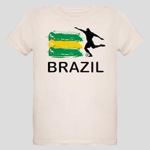 Brazil Football Organic Kids T-Shirt