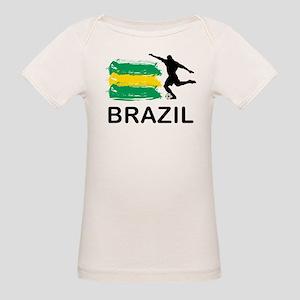Brazil Football Organic Baby T-Shirt