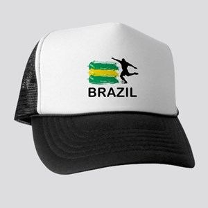 Brazil Football Trucker Hat