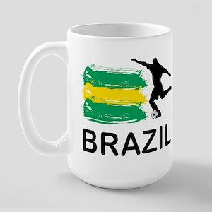 Brazil Football Large Mug