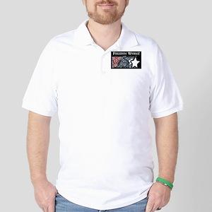 Freedom Works Flag Golf Shirt