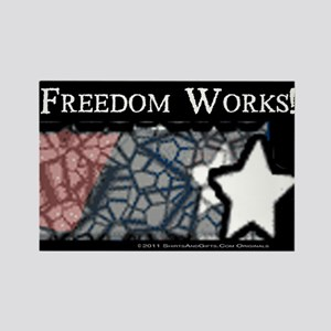 Freedom Works Flag Rectangle Magnet
