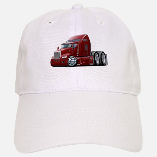 Kenworth 660 Maroon Truck Baseball Baseball Cap