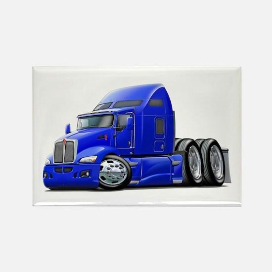 Kenworth 660 Blue Truck Rectangle Magnet