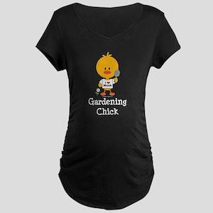 Gardening Chick Maternity Dark T-Shirt