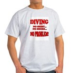 Diving - No Shirt, No Shoes, Ash Grey T-Shirt