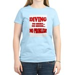 Diving - No Shirt, No Shoes, Women's Pink T-Shirt