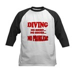 Diving - No Shirt, No Shoes, Kids Baseball Jersey