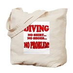 Diving - No Shirt, No Shoes, Tote Bag