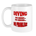 Diving - No Shirt, No Shoes, Mug