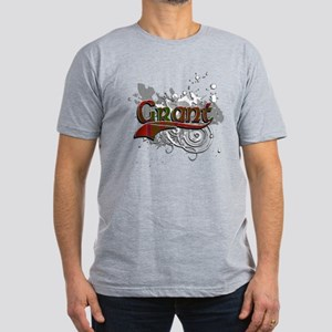 Grant Tartan Grunge Men's Fitted T-Shirt (dark)