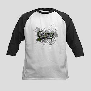 Gunn Tartan Grunge Kids Baseball Jersey