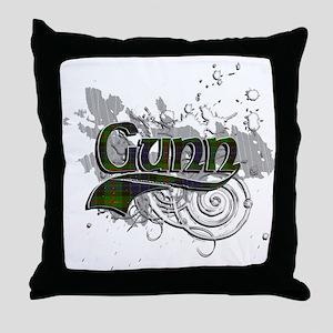 Gunn Tartan Grunge Throw Pillow