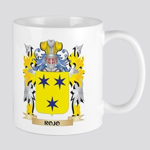 Rojo Family Crest - Coat of Arms Mugs