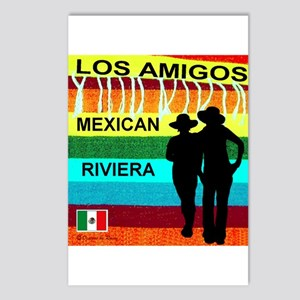 Los Amigos Mexican Riviera Postcards (Package of 8