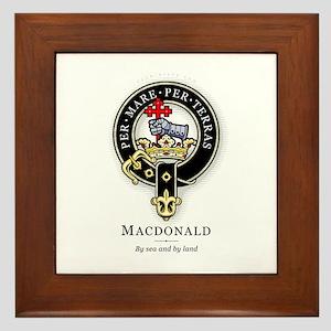 Clan MacDonald Framed Tile