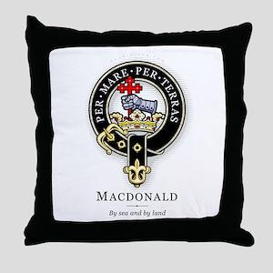 Clan MacDonald Throw Pillow