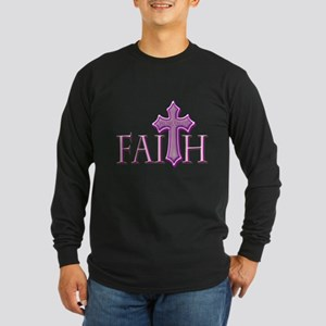Woman of Faith Long Sleeve Dark T-Shirt