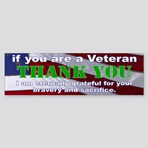 Thank you Veterans Bumper Sticker Sticker (Bumper)