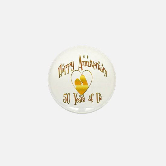 Cool 50th wedding anniversary Mini Button (10 pack)