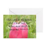 Hebrews 13:6 Greeting Cards (Pk of 10)