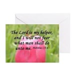 Hebrews 13:6 Greeting Cards (Pk of 10)