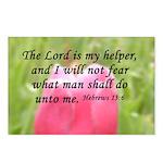 Hebrews 13:6 Postcards (Package of 8)