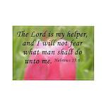 Hebrews 13:6 Rectangle Magnet (10 pack)