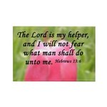 Hebrews 13:6 Rectangle Magnet (10 pack)