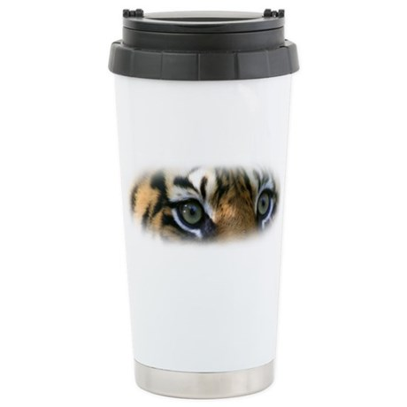 Stainless Steel Travel Mug featuring the eyes of a