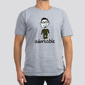 Adorkable Men's Fitted T-Shirt (dark)