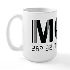Orlando Florida Airport Code MCO Large Mug