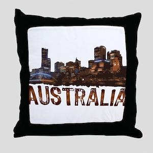 Australia Cityscape Throw Pillow